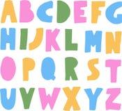 Απλό ζωηρόχρωμο αλφάβητο παιδιών ABC Στοκ Εικόνες
