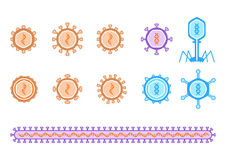 Απλό διάγραμμα ιών Στοκ φωτογραφία με δικαίωμα ελεύθερης χρήσης
