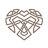 Απλό κελτικό σχέδιο υπό μορφή καρδιάς Στοκ Φωτογραφία