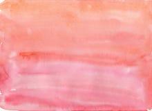 Απλό κόκκινο υπόβαθρο watercolor Στοκ Εικόνες