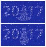 Απλό νέο έτος καρτών 2017 προτύπων απεικόνιση αποθεμάτων