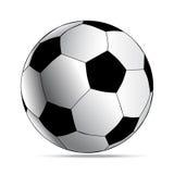 Απλό ποδόσφαιρο ύφους λευκό ποδοσφαίρου σφα&io διανυσματική απεικόνιση