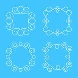 Απλό πρότυπο σχεδίου μονογραμμάτων, κομψό σχέδιο λογότυπων τέχνης γραμμών, Στοκ Φωτογραφία