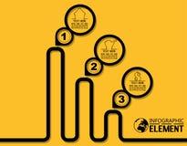 Απλό πρότυπο ύφους γραμμών Infographic με τις επιλογές μερών βημάτων Στοκ εικόνα με δικαίωμα ελεύθερης χρήσης
