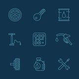 Απλό σύνολο αυτόματων σχετικών διανυσματικών εικονιδίων για το σας Στοκ φωτογραφίες με δικαίωμα ελεύθερης χρήσης