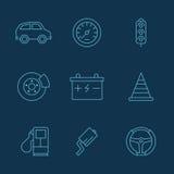 Απλό σύνολο αυτόματων σχετικών διανυσματικών εικονιδίων για το σας Στοκ Εικόνες