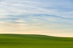 Απλό τοπίο με τον ουρανό Στοκ εικόνα με δικαίωμα ελεύθερης χρήσης