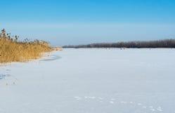 Απλό χειμερινό τοπίο Στοκ φωτογραφίες με δικαίωμα ελεύθερης χρήσης