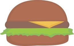 Απλό burger Στοκ Εικόνα