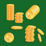 Απλό cryptocurrency συμβόλων Bitcoin - εικονικό νόμισμα στοίβα Στοκ Φωτογραφία