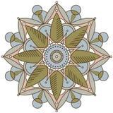 Απλό mandala χρώματος Άσπρη ανασκόπηση Στοκ εικόνα με δικαίωμα ελεύθερης χρήσης