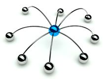 αράχνη ιεραρχίας επικοιν&om απεικόνιση αποθεμάτων