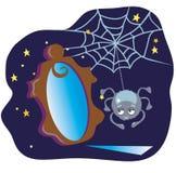 Αράχνη και ο καθρέφτης Στοκ φωτογραφία με δικαίωμα ελεύθερης χρήσης