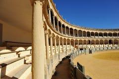 Αρένα ταυρομαχίας Maestranza στη Ronda, Ανδαλουσία, Ισπανία Στοκ εικόνα με δικαίωμα ελεύθερης χρήσης