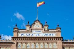 Αρένα ταυρομαχίας Ventas Las στη Μαδρίτη, Ισπανία. Στοκ Φωτογραφίες