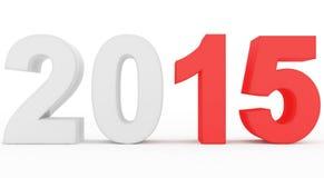 Αρίθμηση έτους 2015 Στοκ εικόνα με δικαίωμα ελεύθερης χρήσης