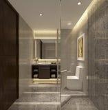 Αρίστης ποιότητας apartment& της Σαγκάη x27 συνοπτικό ύφος του s της εσωτερικής τουαλέτας Στοκ Εικόνα