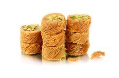 Αραβικά γλυκά στο λευκό Στοκ Εικόνες