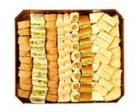 Αραβικά γλυκά στο κιβώτιο Στοκ Εικόνες