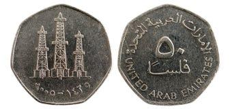 αραβικά εμιράτα νομισμάτων που ενώνονται στοκ φωτογραφίες
