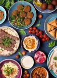 Αραβικά πιάτα και meze Στοκ φωτογραφία με δικαίωμα ελεύθερης χρήσης