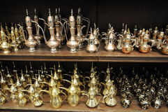 αραβικά teapots πώλησης του Ντο& Στοκ Εικόνες