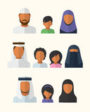 Αραβικές οικογένειες Στοκ Φωτογραφίες