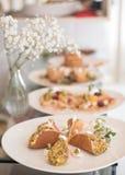 Αραβικές τηγανίτες στο πιάτο Στοκ Φωτογραφίες
