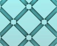 Αραβική διακοσμητική σύνθεση με τα μπλε διανύσματα squaresashion Στοκ Φωτογραφία