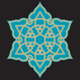 Αραβική διακόσμηση έξι Bonab Στοκ εικόνα με δικαίωμα ελεύθερης χρήσης