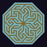 Αραβική διακόσμηση δύο Adil Στοκ εικόνα με δικαίωμα ελεύθερης χρήσης