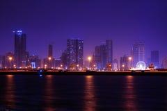 αραβική νύχτα Σάρτζα εμιράτ&omeg στοκ εικόνα