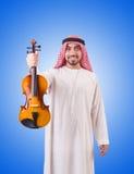 Αραβική παίζοντας μουσική ατόμων στο λευκό Στοκ φωτογραφία με δικαίωμα ελεύθερης χρήσης