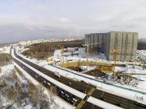 αραβική περιοχή εμιράτων του Ντουμπάι κατασκευής πόλεων που ενώνεται Στοκ Εικόνες