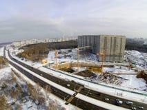 αραβική περιοχή εμιράτων του Ντουμπάι κατασκευής πόλεων που ενώνεται Στοκ Φωτογραφία