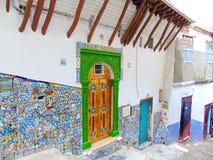 Αραβική πόρτα με κεραμικό στοκ εικόνα με δικαίωμα ελεύθερης χρήσης