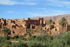 Αραβική πόλη οάσεων ύφους στο Μαρόκο Στοκ εικόνα με δικαίωμα ελεύθερης χρήσης