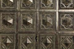 Αραβική σύσταση σχεδίων διακοσμήσεων στις πόρτες Στοκ Εικόνες
