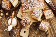 Αραβική semolina πίτα Στοκ Εικόνες