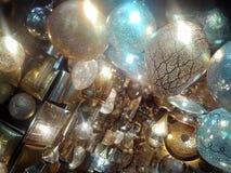 Αραβικοί λαμπτήρες - Μαρακές Bazaar, Μαρόκο Στοκ Εικόνες