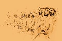 αραβικοί χορευτές παραδοσιακοί απεικόνιση αποθεμάτων