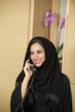 Αραβικός αντιπρόσωπος εξυπηρέτησης πελατών Στοκ φωτογραφίες με δικαίωμα ελεύθερης χρήσης