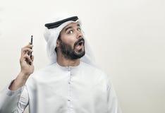 0 αραβικός επιχειρηματίας, αραβικός επιχειρηματίας που εκφράζει το θυμό Στοκ Φωτογραφία