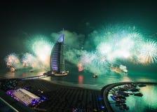 Αραβικός νέος εορτασμός παραμονής ετών Al Burj στοκ φωτογραφία με δικαίωμα ελεύθερης χρήσης
