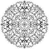 Αραβικός στρόβιλος μπατίκ Floral Στοκ Εικόνες