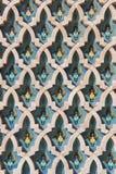 αραβικός τοίχος σύστασης του Μαρόκου Ισλάμ της Κασαμπλάνκα Στοκ εικόνες με δικαίωμα ελεύθερης χρήσης