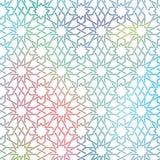 Αραβικό άνευ ραφής σχέδιο διακοσμήσεων Στοκ Φωτογραφίες