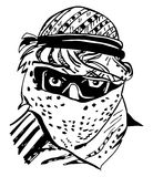 αραβικό άτομο headdress keffiyeh παραδοσιακό Στοκ Εικόνες