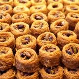 Αραβικό γλυκό baklava με το φυστίκι Στοκ Φωτογραφία