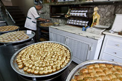 Αραβικό γλυκό κατάστημα Στοκ Φωτογραφία